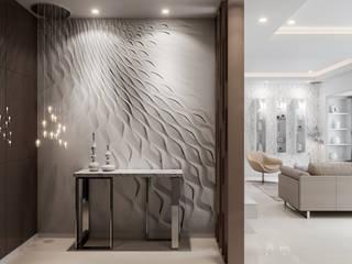 De Panache Salones de estilo moderno Piedra Beige