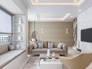 De Panache Salones de estilo moderno Granito Beige