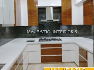 MODULAR KITCHEN DEALERS OR MANUFACTURERS interior designers IN FARIDABAD, godrej modular kitchen, livspace, regalo kitchen, majestic kitchens, kitchen designs, best kitchens, l shape kitchen by MAJESTIC INTERIORS Asian