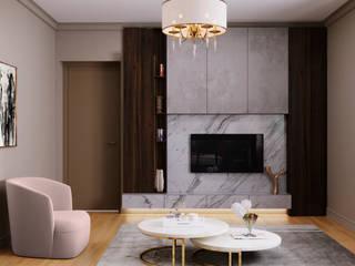 Чайная дымка Гостиная в классическом стиле от Дизайн-бюро Анны Шаркуновой 'East-West' Классический
