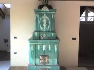 Dallago Stufe Corredores, halls e escadas clássicos Cerâmica Verde