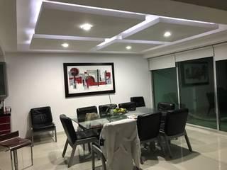 Modern dining room by Prama tablaroca y acabados Modern