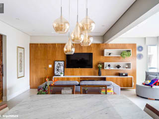 Apto Dr. Paulo Vieira - 135m2 - Perdizes | São Paulo Salas de estar modernas por Madi Arquitetura e Design Moderno
