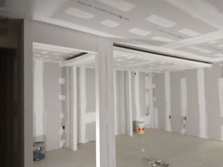 Muros y plafon de tablaroca Prama tablaroca y acabados Espacios comerciales Blanco