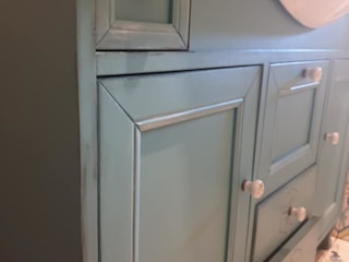 Mobili a Colori Mediterranean style bathrooms Wood Turquoise