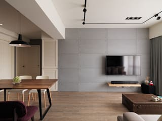 陶璽空間設計 Living room Wood Grey