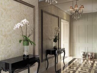 陶璽空間設計 Classic style corridor, hallway and stairs Marble White