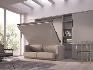 BASIC: letto abbattibile verticale con e senza divano di SPINELLI di Drs Industria Mobili Srl Moderno