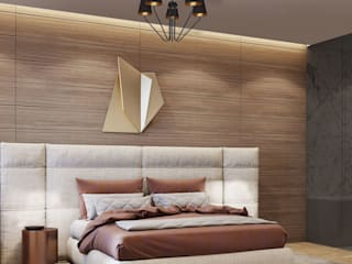 Bedroom's inspiration decorated by lighting from LuxuryChandelier.co.uk Luxury Chandelier Small bedroom Wood Beige