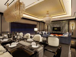 Nispetiye Restoran - Council VIP Odası Modern Oturma Odası OOK Modern