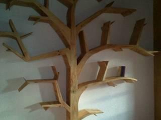 Librero de Forma Arquitectónica SA de CV Rústico Madera Acabado en madera
