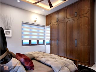 Monnaie Interiors Pvt Ltd Asian style bedroom
