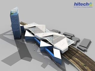 Architectural 3D Modeling and Visualization of Mixed-Use Building by Hitech BIM Services Industrial