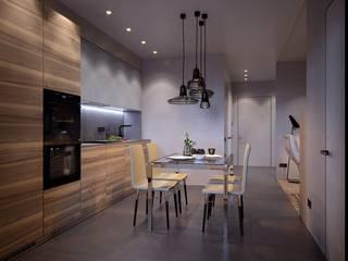 квартира 57м.кв. г.Москва Кухни в эклектичном стиле от Orel Andre Эклектичный