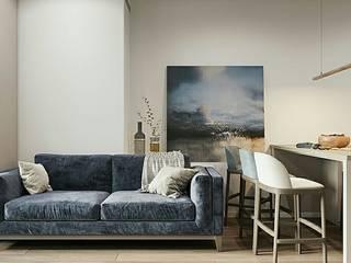 Концепция для 2х комнатной квартиры. Гостиная в стиле модерн от Orel Andre Модерн