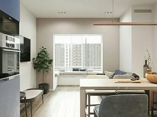 Концепция для 2х комнатной квартиры. Кухня в стиле модерн от Orel Andre Модерн
