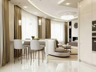 Квартира 105м.кв. г.Москва Гостиная в классическом стиле от Orel Andre Классический