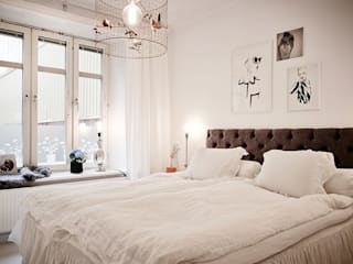 Квартира 68м.кв. г.Хельсинки Спальня в скандинавском стиле от Orel Andre Скандинавский