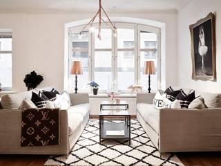 Квартира 68м.кв. г.Хельсинки Гостиная в скандинавском стиле от Orel Andre Скандинавский