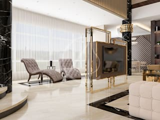 Luxury Contemporary Villa Interior Design Modern living room by Comelite Architecture, Structure and Interior Design Modern