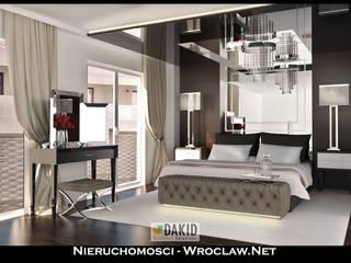 Projekt luksusowego apartamentu Nieruchomosci-Wroclaw.Net Eklektyczna sypialnia od Nieruchomosci-Wroclaw.Net Eklektyczny