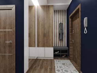 """Квартира """"Новин"""" 85 м.кв. Гостиные в эклектичном стиле от Шамисова Анастасия Эклектичный"""