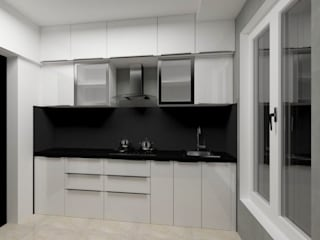 Black and white Kitchen by Make My Nest Modern