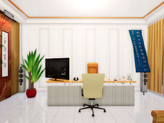 VR Executive Office Design 虛擬實境主管辦公室設計 根據 盧博士虛擬實境設計工坊 現代風