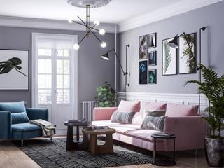 Квартира в скандинавском стиле Гостиная в скандинавском стиле от Samotaev Alexey Скандинавский