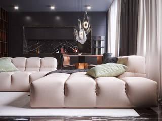 Квартира для холостяка Гостиная в стиле минимализм от Samotaev Alexey Минимализм