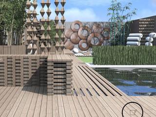 ogród przy szeregowcu Luxuriance Nowoczesny ogród