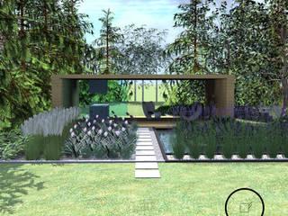 duży ogród Warszawa Luxuriance Nowoczesny ogród