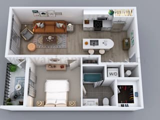 3D Semi-Classic Floor Plan Rendering Service by Yantram 3D Animation Studio, Australia - Sydney by Yantram Architectural Design Studio