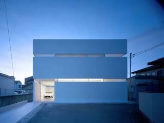 藤原・室 建築設計事務所 Casas modernas Concreto Branco