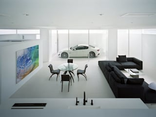藤原・室 建築設計事務所 Salas de estar modernas Concreto reforçado Branco