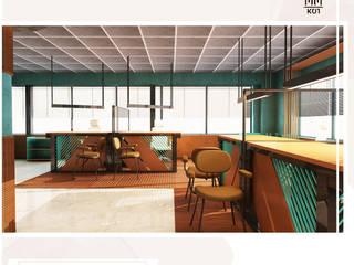 Yönetim Birimi Tasarımı Kut İç Mimarlık Rustik Çalışma Odası Ahşap Ahşap rengi
