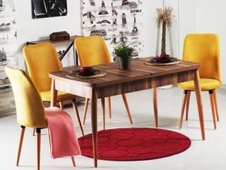 Palmiye Koçak Sandalye Masa Koltuk Mobilya Dekorasyon ComedorSillas y bancos Acabado en madera