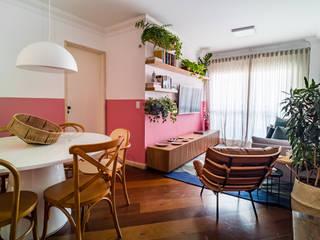 Apartamento aconchegante, funcional, cheio de estilo e alugado!! Studio Elã Salas de estar modernas