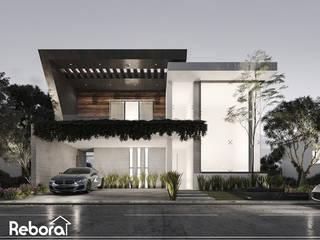 Casa moderna de diseño auténtico con naturaleza integrada e innovadores detalles. Casas modernas de Rebora Arquitectos Moderno