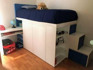 Argento muebles Camera da lettoLetti e testate Legno Bianco