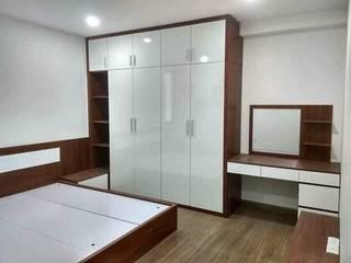 DỊCH VỤ THI CÔNG NỘI CĂN HỘ 1 PHÒNG NGỦ QUẬN 2: tối giản  by OKIA Furniture, Tối giản