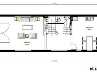 Thiết kế nhà 3 tầng 5x16m bởi Nam Long construction