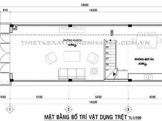 Thiết kế nhà ống 3 tầng diện tích 5x15m tân cổ điển bởi Công ty cổ phần tư vấn kiến trúc xây dựng Nam Long