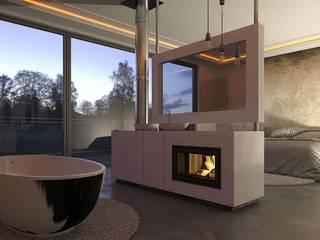 Dormitorios de estilo minimalista de kiimoto kamine Minimalista