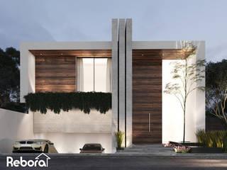 Una entrada extraordinaria para que todos los días te sientas bienvenido. Casas modernas de Rebora Arquitectos Moderno