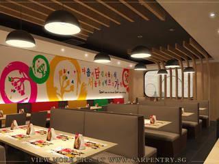 Rustic Meets Modern - Seoul Garden Restaurant Project by Singapore Carpentry Interior Design Pte Ltd Asian