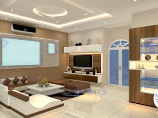Minimalist Style Interiors for Gurgaon Apartment By Futomic Modern living room by Futomic Design Services Pvt. Ltd. Modern