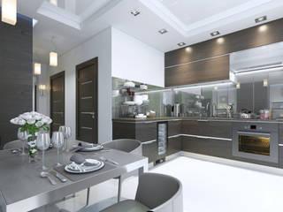 Дизайн-проект квартиры 50 кв.м. Кухня в стиле минимализм от ArtRoom Минимализм