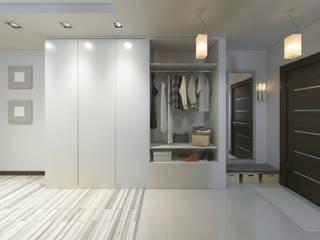 Дизайн-проект квартиры 50 кв.м. Коридор, прихожая и лестница в стиле минимализм от ArtRoom Минимализм