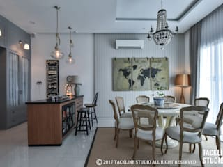 Modern dining room by Tackline Studio Modern
